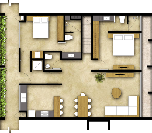 2 Rooms - Penthouse