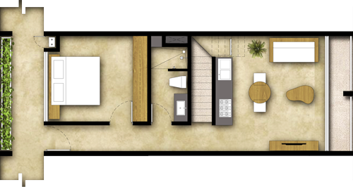 1 Room - Penthouse